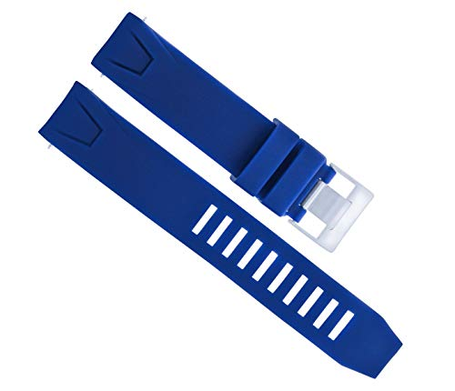 Silicone Rubber Strap Watch Band 20MM for 41MM Omega SEAMASTER Planet Ocean Blue