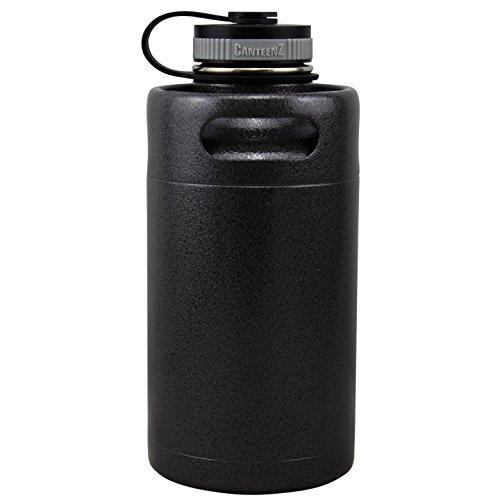 - Hammer Black Vacuum Insulated 64oz Stainless Steel Mini Keg Beer Growler