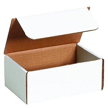 "BOX USA BML732 7""L x 3 5/8""W x 2 1/8""H, White (Pack of 50)"