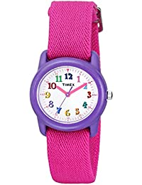 Kids TW7B99400 Purple Resin Analog Watch with Pink...