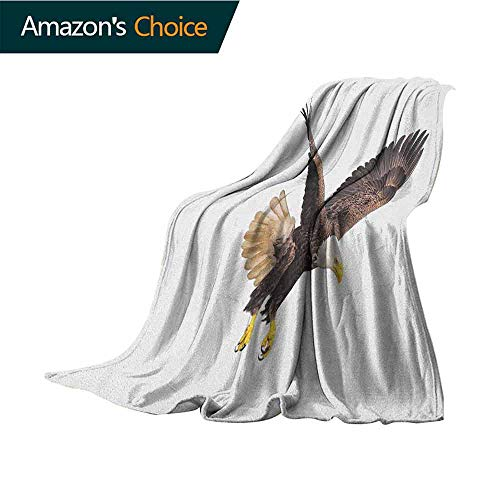 Eagle Baby Month Blanket,Image of a Hunter Flying Looking for Prey Predator Scenes from Nature Colorful | Home,Couch,Outdoor,Travel Use,35