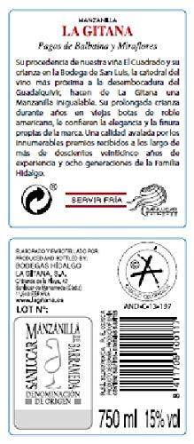 Pack 2 Botellas Manzanilla La Gitana 75 Cl. + 2 Catavinos: Amazon.es: Alimentación y bebidas