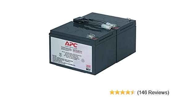 RBC6 UPS Complete Replacement Battery Kit for SUA1000US