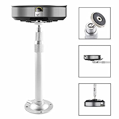 Projector Mount, Auledio Universal Extendable Projector Ceiling Mount Wall Bracket with Adjustable Height - White