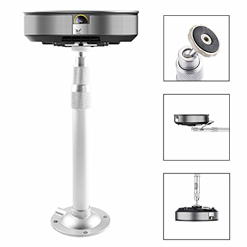 Auledio Projector Mount, Universal Extendable Projector Ceiling Mount Wall Bracket with Adjustable Height up to 15.7'' - White by Auledio