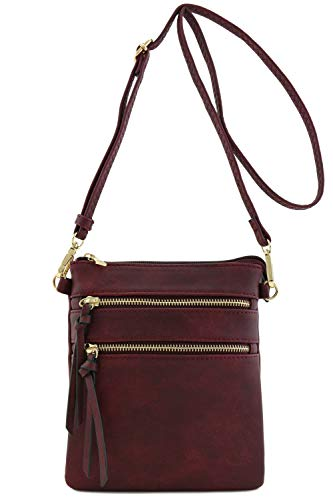 Functional Multi Pocket Crossbody Bag (Wine)