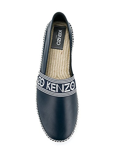 Kenzo Mens Espadrillas In Pelle Blu F855es122l5076