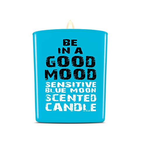 Be in a Good Mood Aromatherapy Candles | Premium Scented Candles | Each Candle Set is Crafted with Perfection - Candle Jars, Hand Poured with Non-Toxic Mineral Wax & Cotton Wick (Blue Moon)