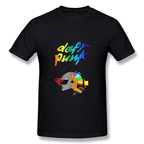 SHUNAN Men's Daft Punk Augusto T-shirt Size M Black