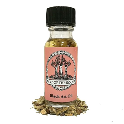 Black Art Oil 1/2 oz for Curses, Hexes, Black Magic, Necromancy & Communing with The Dead Wiccan, Pagan, Hoodoo, Conjure, Voodoo