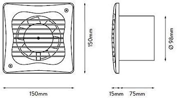 Neues Modell Badezimmer Dusche Bad Wei/ß Xpelair VX4 bieten Extraktion und Bel/üftung f/ür WC 100 mm 10,2 cm Badezimmer Saugl/üfter Mit opational eingebauten Timer oder Standard Modell