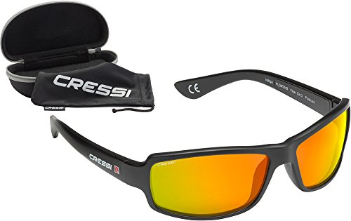 Cressi Ninja Floating, Black, Orange Mirrored Lens