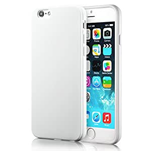 Funda iPhone 6S Plus y Funda iPhone 6 Plus (5.5 pulgadas),con cubierta de silicona a prueba de golpes,parachoques flexible y suave de Gloss Gel, manguera para de parachoques de TPU(blanco)