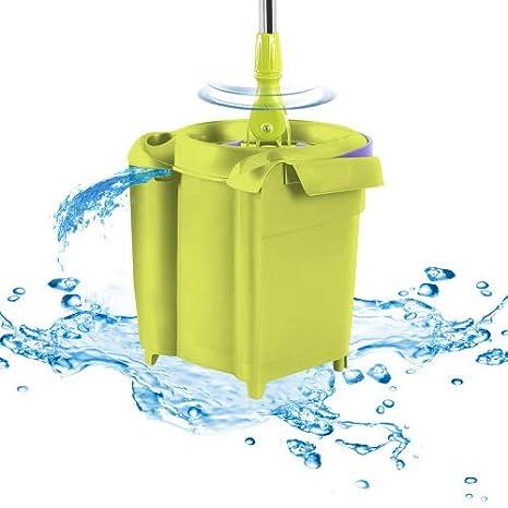 Genius cleanissimo | flymop | Suelo - Limpiacristales | Cubo | de Centrifugado Depósito | 360 ° | borrones Juego Completo | Nuevo Color Lila de Verde: ...