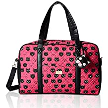 Luv Betsey Johnson Cruisn Cotton Quilted Carry On Weekender Travel Duffel Bag