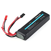 Elisona-3-Connection 11.1V 2200mAh 20C Quadcopter helicopter Lithium Battery Li-Polymer Rechargeable Battery for Futaba FF8 FF9 Remote Controller