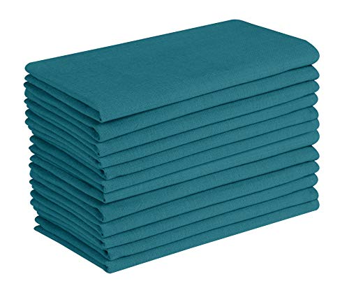 Cotton Clinic Everyday 17x17 Cloth Dinner Napkins Teal - Set of 12 ()