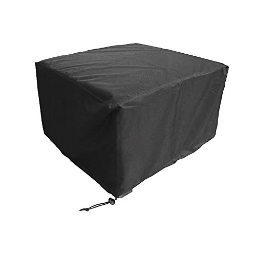 WOMACO Heavy Duty Square Patio Fire Pit/Table Cover, Waterproof Outdoor Furniture Cover (44'' x 44'' x 22'', Black) by WOMACO
