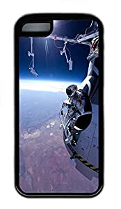 for iphone 5c Case Felix Baumgartner Space Jump TPU for iphone 5c Case Cover Black