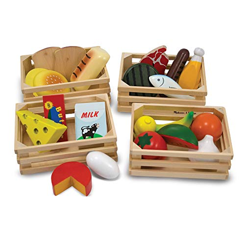 Melissa & Doug 21 Pc Wooden Play Food