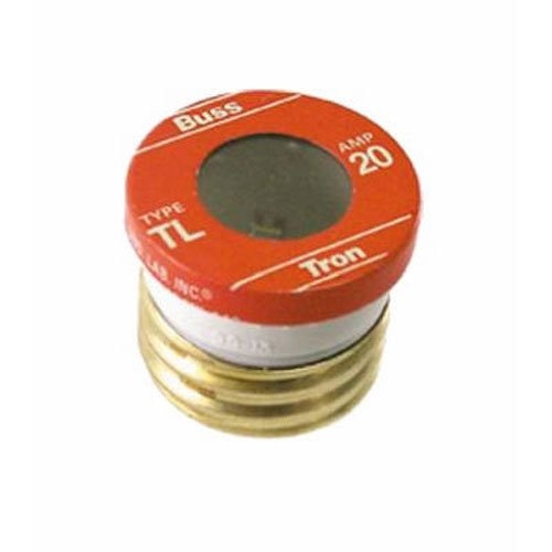 Bussmann TL-20PK4 20 Amp Time Delay, Loaded Link Edison Base Plug Fuse, 125V UL Listed, 4-Pack