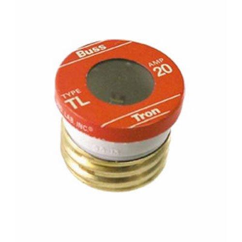 Bussmann TL-20PK4 20 Amp Time Delay, Loaded Link Edison Base Plug Fuse, 125V UL Listed, 4-Pack ()