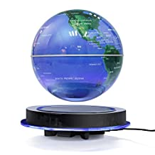 Magnetic Levitation Globe, 8'' Floating Rotating Ball Anti Gravity LED Illuminated World Map Earth for Desktop Office Home Decor Kids Education