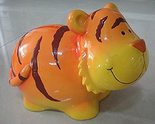 Blowfish Orange Tiger with Chubby Cheeks Coin Bank ()