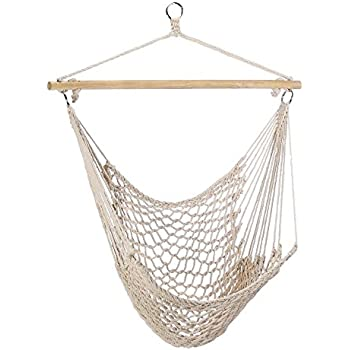 Gifts U0026 Decor Cotton Rope Hammock Cradle Chair With Wood Stretcher