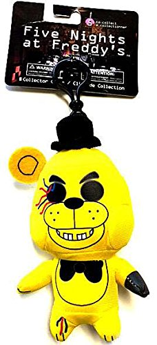 FNAF Officially Licensed Five Nights At Freddys 5quot Golden Freddy Plush Toy Clip