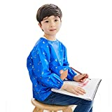 Hosim Children Waterproof Painting Smock Long Sleeves and Pockets, Art Aprons For Kids With Lovely Animal Pattern, Art Painting Supplies Use for School Classroom and Kitchen