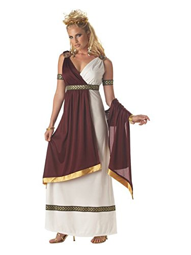 California Costumes Women's Roman Empress Costume,White/Burgundy, -