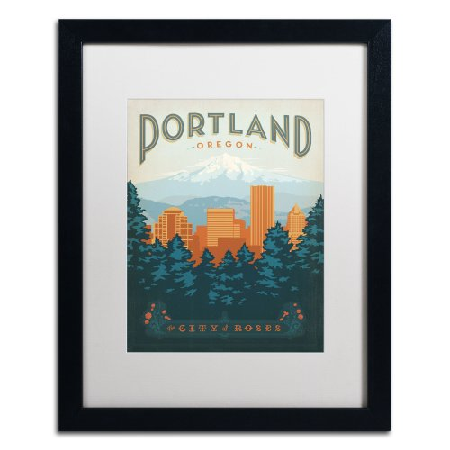 Trademark Fine Art Portland Canvas Artwork by Anderson Design Group, 16 by (Anderson Art Print)