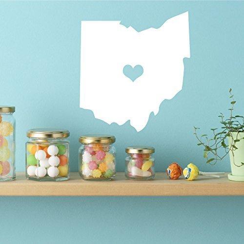 [Ohio State - Vinyl Wall Decor, 17th State, Columbus Ohio, Eastern States, Ohio State Buckeyes] (Columbus Ohio Halloween)