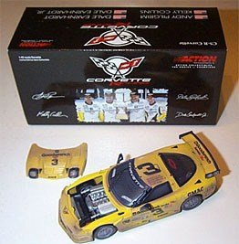 Dale Earnhardt Jr Andy Pilgrim Kelly Collins 1/43 Scale Raced Version 2001 Corvette C5R GM Goodwrench Service Plus Daytona Rolex 24 Hour Race Action Racing Collectables Limited Edition ()