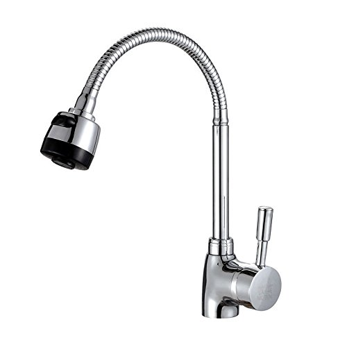 Lalaky Taps Faucet Kitchen Mixer Sink Waterfall Bathroom Mixer Basin Mixer Tap for Kitchen Bathroom and Washroom Copper Hot and Cold Universal Single Hole