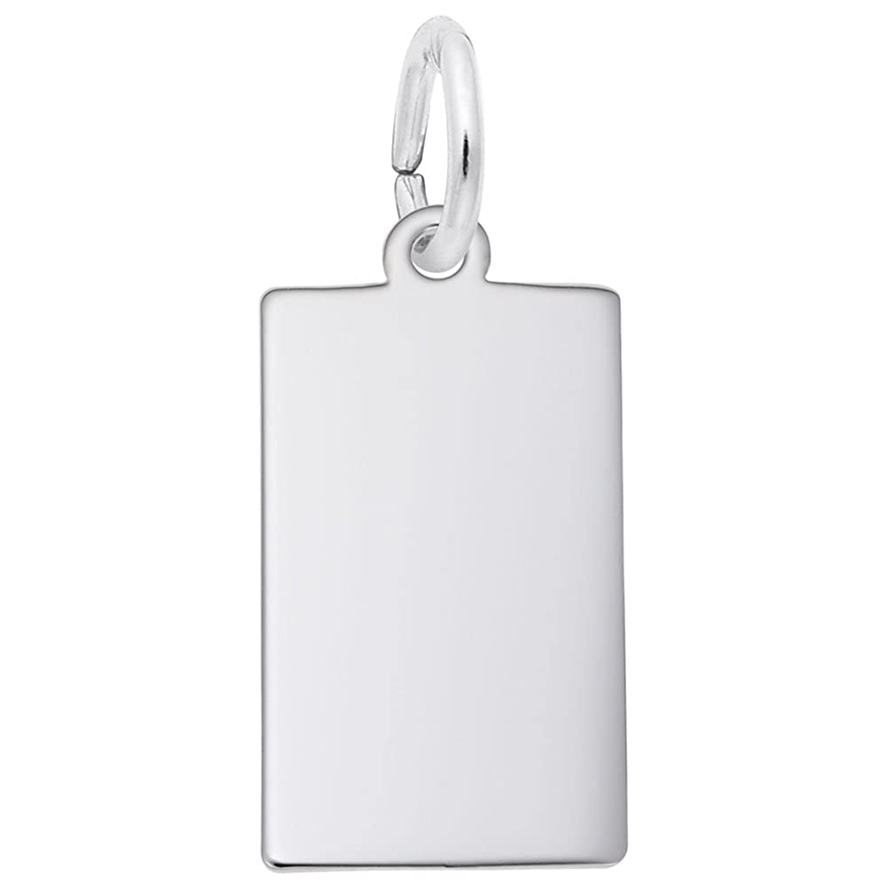 Dog Tag Charm Charms for Bracelets and Necklaces