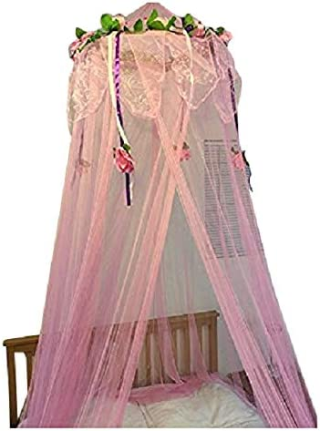 White Sequins Bed Canopy Mosquito Net for All Size Bed Dressing Room Out Door Events