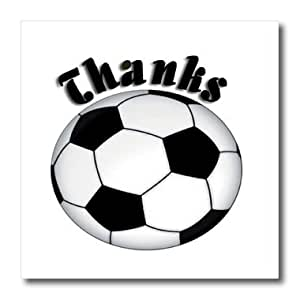 ht_13021_3 Beverly Turner Design - Thanks, Soccer Ball - Iron on Heat Transfers - 10x10 Iron on Heat Transfer for White Material