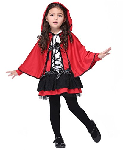 Girls Dressing Up (Girl's Fancy Dress Halloween Dressing up Party Pirate Witch Batgirl Costume (L: 6-7Y, RedRidingHd))