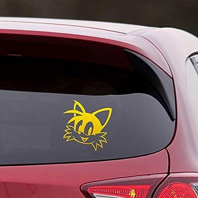 Amazon Com Angdest Sonic The Hedgehog Tails Metallic Gold Set Of 2 Premium Waterproof Vinyl Decal Stickers For Laptop Phone Accessory Helmet Car Window Bumper Mug Tuber Cup Door Wall Decoration Home Improvement