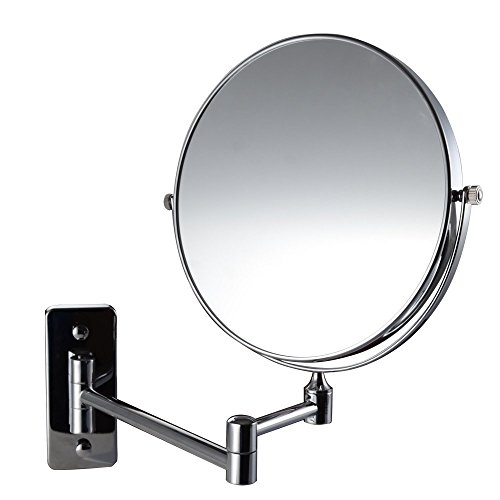 (Magik 10x Magnification Two-Sided Swivel Wall Mount Mirror 8-Inch, Polished Chrome (10X))