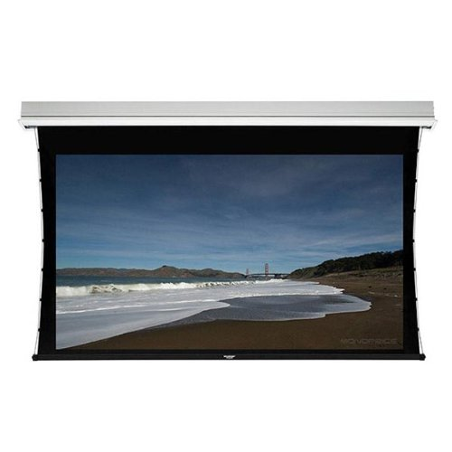 Monoprice Ceiling Recessed Tab-Tensioned Motorized Projection Screen (Somfy Motor) w/ IR Remote - HD White Fabric (120 inch, 16:9) by Monoprice