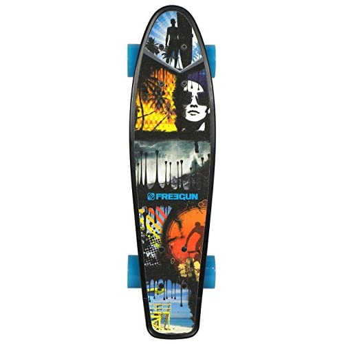 "Freegun Pic 22, 5"" Skateboard Mixte Enfant, Noir"