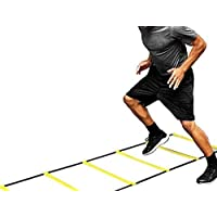 Speed Agility Ladder, Soccer Exercise Sport Practise Training Ladder, Adjustable Jumping Step Rope Outdoor Rungs Fitness Agility Ladder for Kids Teens