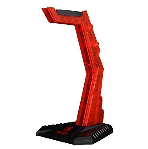 SADES E-Sports Gaming Headphone Cradle,eTopxizu S-xlyz Acrylic Headset Bracket Stand Holder,Suitable for AKG,Sony,Shure,Sennheiser,Monster Beats,Ultimate Ears,Boss,Logitech,Gaming Headset,Red(Stand
