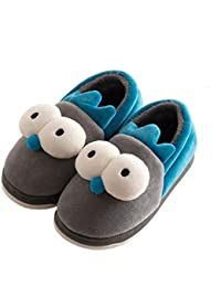 e2f60af583ae7 Comfy Cute Kids House Slippers Fur Lined Indoor Outdoor Winter Warm Slippers  Boys Girls (Toddler