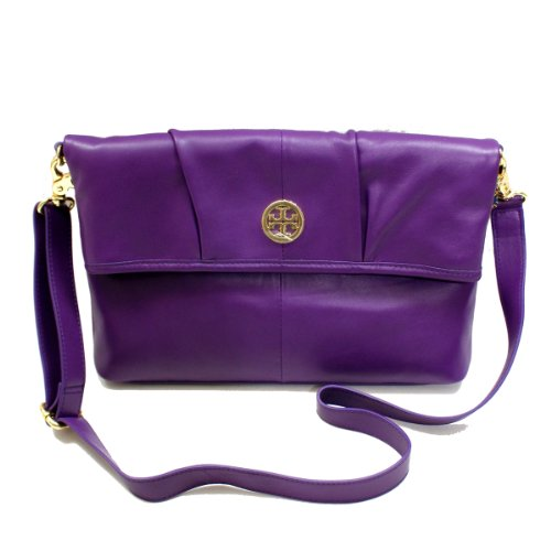 Tory Burch Imperial Purple Verona Foldover Messenger Bag (Purple) - Tory Purple Burch Bag