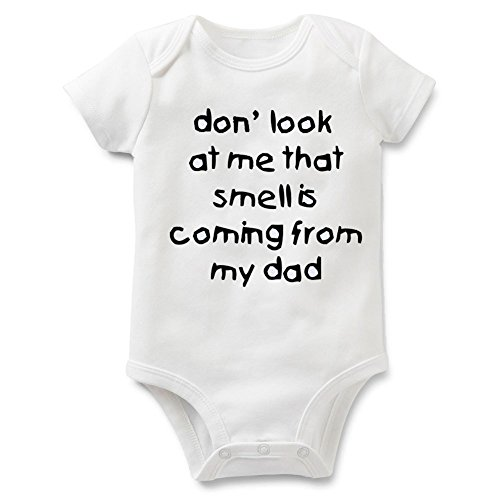Funny Slogan Super Soft Cotton Baby Onesies Comfy Short Sleeve Bodysuit(3M dad1) -
