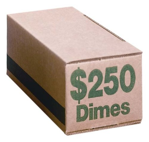PM Company Dime Storage Coin Boxes, 50-Pack (61010)